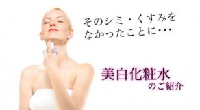 美白化粧品ご紹介!そのシミ、くすみをなかったことに・・・!